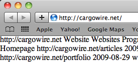 Screenshot of Safari showing plain text